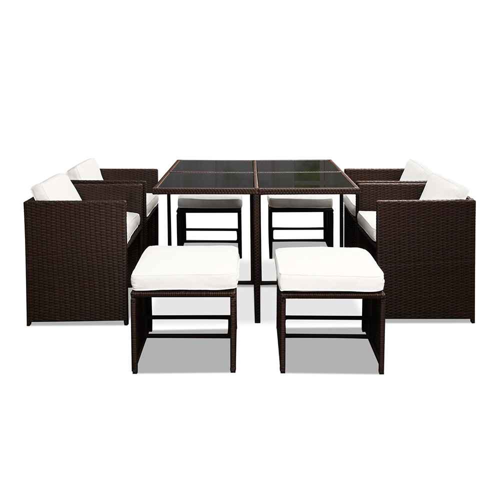 New Wicker Dining Outdoor Furniture Set Rattan Table