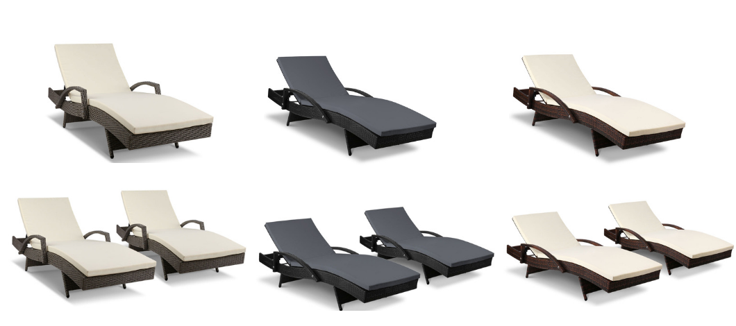 New Outdoor Sun Lounge Pool Loungers