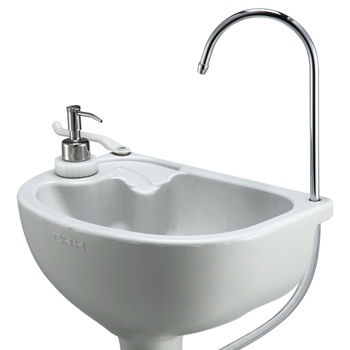 New PORTABLE CAMPING OUTDOOR KITCHEN SINK Wash Basin Camp ... on Outdoor Sink With Stand id=94171